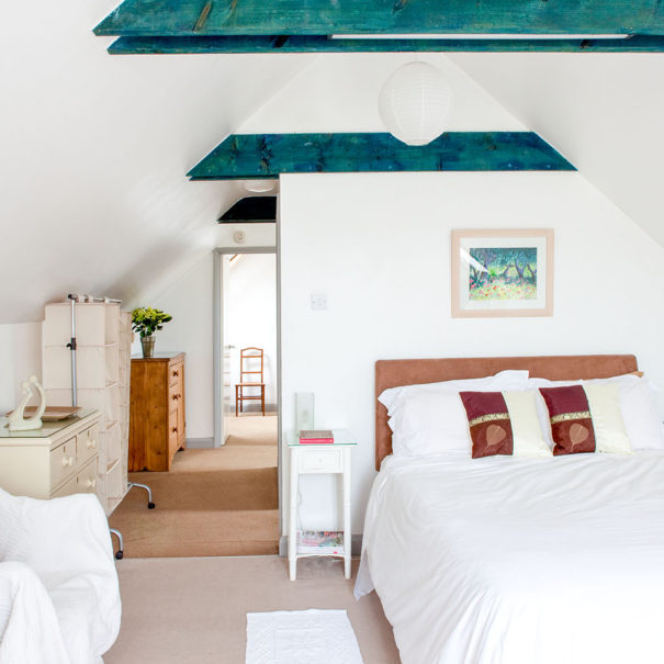 coach house bb wells somerset upstairs master bedroom double bed